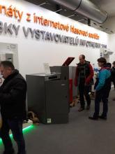 Kotel na pelety DOMUSA BioClass HM 25 ve vstupní hale výstaviště